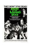 NIGHT OF THE LIVING DEAD  US poster  Duane Jones  Judith O'Dea  Marilyn Eastman  1968