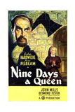 TUDOR ROSE  (aka NINE DAYS A QUEEN)  US poster art  from top: Cedric Hardwicke  Nova Pilbeam  1936