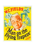 MAN ON THE FLYING TRAPEZE  WC Fields  Mary Brian on window card  1935