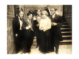CHASE ME CHARLIE  second from left: Charlie Chaplin on lobbycard  1918