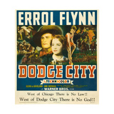 DODGE CITY  center from left: Errol Flynn  Olivia de Havilland  1939