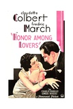 HONOR AMONG LOVERS  from left on US poster art: Claudette Colbert  Fredric March  1931