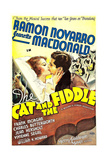 THE CAT AND THE FIDDLE  from left on US poster art: Jeanette MacDonald  Ramon Novarro  1934