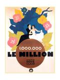 LE MILLION  from left on French poster art: Rene Lefevre  Annabella  1931
