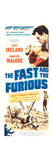 THE FAST AND THE FURIOUS  top l-r: Dorothy Malone  John Ireland on insert poster art  1955