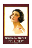 FIFTY-FIFTY  Norma Talmadge on 1-sheet poster art  1916