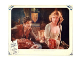 THE NIGHT OF LOVE  l-r: Ronald Colman  Vilma Banky on lobbycard  1927