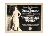 THOUGHTLESS WOMEN  on left: Alma Rubens; Title card  1920