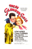 THESE GLAMOUR GIRLS  US poster art  top from left: Lew Ayres  Lana Turner; inset: Lana Turner  1939