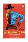 UNDER THE TONTO RIM  US poster  Richard Arlen  1928