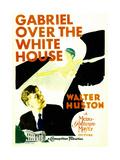 GABRIEL OVER THE WHITE HOUSE  left: Walter Huston on midget window card  1933