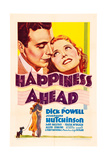 HAPPINESS AHEAD  'Mini Window Card' poster  top from left: Dick Powell  Josephine Hutchinson  1934