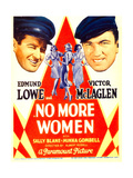 NO MORE WOMEN  left: Edmund Lowe  right: Victor McLaglen on midget window card  1934