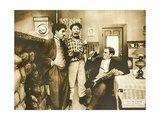 CHASE ME CHARLIE  left: Charlie Chaplin on lobbycard  1918
