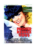 HER FIRST AFFAIR (PREMIER RENDEZ-VOUS)  French poster  Danielle Darrieux  1941
