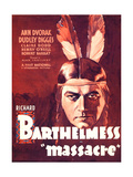MASSACRE  Richard Barthelmess on midget window card  1934