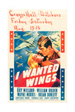 I WANTED WINGS  l-r: Veronica Lake  Ray Milland on window card  1941