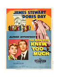 THE MAN WHO KNEW TOO MUCH  on left  from left: Doris Day  James Stewart; 1-sheet poster  1956