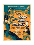 THE MAN FROM PLANET X  l-r: Pat Goldin  Margaret Field on poster art  1951
