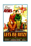 LET'S BE RITZY  from left: Lew Ayres  Patricia Ellis  1934