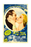 LET'S FALL IN LOVE  from left: Edmund Lowe  Ann Sothern on midget window card  1933