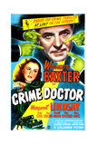 THE CRIME DOCTOR  US poster  Warner Baxter  Margaret Lindsay  1943