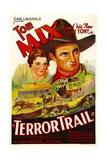 TERROR TRAIL  from left: Naomi Judge  Tom Mix  1933
