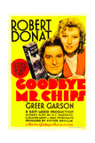 GOODBYE  MR CHIPS  from left: Robert Donat  Greer Garson on midget window card  1939