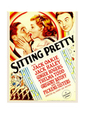 SITTING PRETTY  from left: Jack Oakie  Ginger Rogers  Jack Haley on midget window card  1933