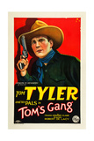 TOM'S GANG  Tom Tyler on poster art  1927