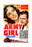 ARMY GIRL  US poster art  from left: Madge Evans  Preston Foster  1938
