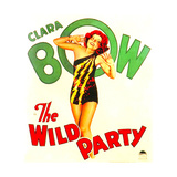 THE WILD PARTY  Clara Bow on window card  1929