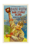 BABE COMES HOME  Babe Ruth  style 'A' poster  1927