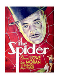 THE SPIDER  US poster art  top: Edmunde Lowe; bottom from left: John Arledge  Lois Moran  1931