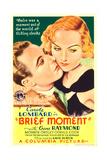 BRIEF MOMENT  from left: Gene Raymond  Carole Lombard on midget window card  1933