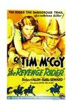 THE REVENGE RIDER  US poster art  from left: Billie Seward  Tim McCoy  1935