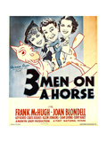 THREE MEN ON A HORSE  from left: Joan Blondell  Frank McHugh  Carol Hughes on window card  1936
