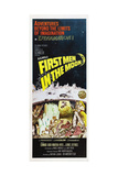 FIRST MEN IN THE MOON  US poster  from bottom left: Edward Judd  Martha Hyer  Lionel Jeffries  1964