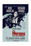 THE HEROES OF TELEMARK  British poster  Kirk Douglas  1965