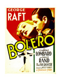 BOLERO  top from left: Carole Lombard  George Raft on midget window card  1934