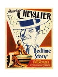 A BEDTIME STORY  top: Maurice Chevalier  bottom: Helen Twelvetrees on midget window card  1933