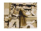 THE SILENT MAN  left: William S Hart on lobbycard  1917