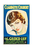THE GILDED LILY  Claudette Colbert on US poster art  1935