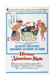 DIVORCE AMERICAN STYLE  US poster  Dick Van Dyke  Debbie Reynolds  1967