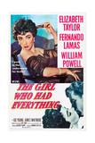 THE GIRL WHO HAD EVERYTHING  Elizabeth Taylor  Fernando Lamas  1953