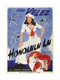 HONOLULU LU  top: Lupe Velez on Swedish poster art  1941