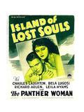 ISLAND OF LOST SOULS  from left: Richard Arlen  Kathleen Burke on window card  1932