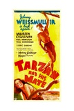 TARZAN AND HIS MATE  top: Johnny Weissmuller  bottom: Maureen O'Sullivan  1934