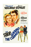 THE SHOP AROUND THE CORNER  l-r: Margaret Sullavan  James Stewart on poster art  1940