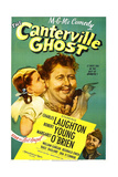 THE CANTERVILLE GHOST  US poster  Margaret O'Brien  Charles Laughton  Robert Young  1944